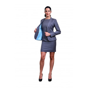 Grey dress with fashion Jacket